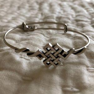 Alex and Ani Endless Knot Silver Wrap Bracelet
